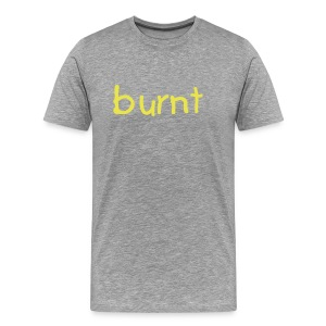 burnt t-shirt gray/yellow - Men's Premium T-Shirt