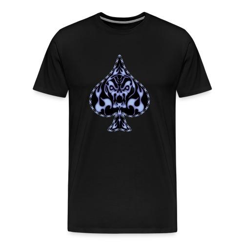 Poker Flaming Skull - Men's Premium T-Shirt