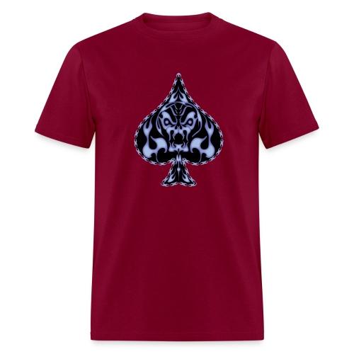 Poker Flaming Skull - Men's T-Shirt