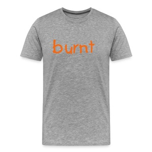 burnt t-shirt gray/orange - Men's Premium T-Shirt
