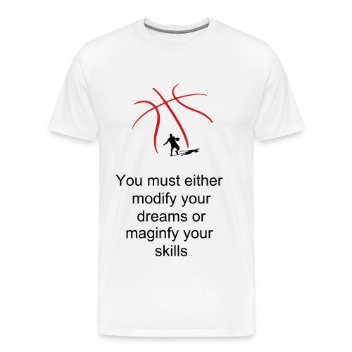 Magnify Your Skills--Basketball - Men's Premium T-Shirt