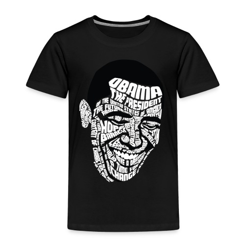 Wordsworth Obama Kids - BLACK - Toddler Premium T-Shirt