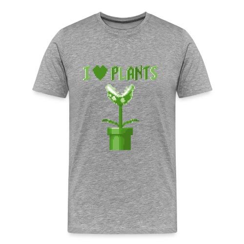 love plants t shirt homme gris - Men's Premium T-Shirt