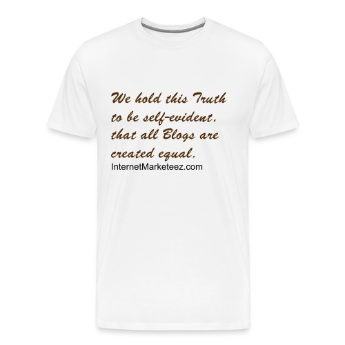 All Blogs are created equal (Men's Heavyweight Tee) - Men's Premium T-Shirt