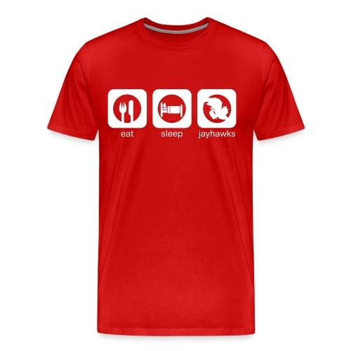 Eat, Sleep, Jayhawks Men's Heavyweight - Men's Premium T-Shirt