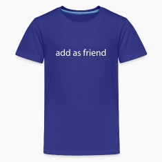 Royal blue add a sfriend by wam Kids' Shirts