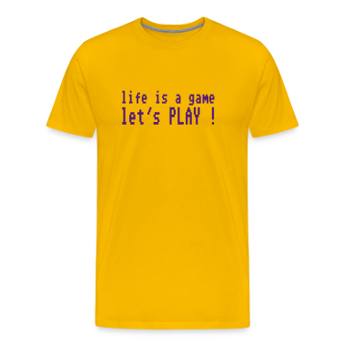 Yellow life is a game let's play ! T-Shirts