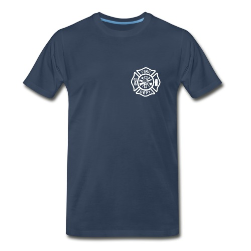 Fire/EMS Shirt (White Imprint - 3XL) - Men's Premium T-Shirt