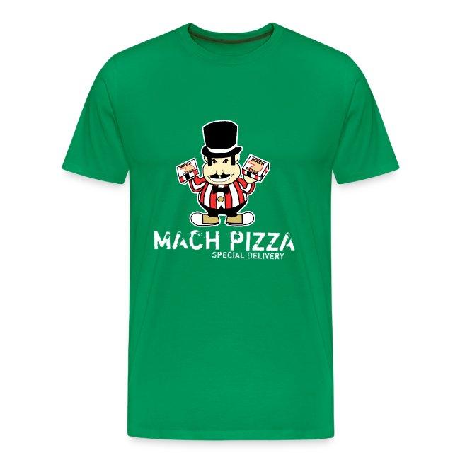 fa8222fa9b9da Mach Pizza Mens Green T-Shirt | Men's Premium T-Shirt