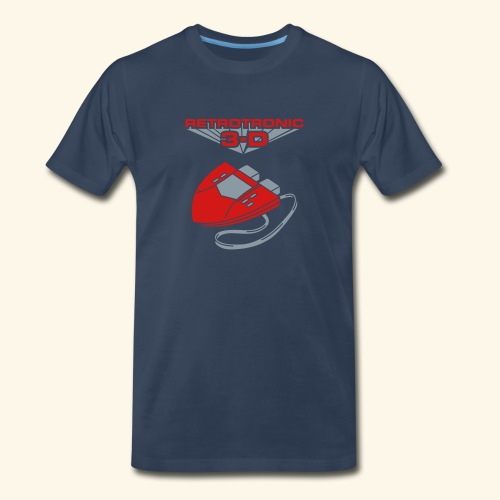 Retrotronic 3D  - Men's Premium T-Shirt