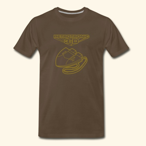 Retrotronic 3D (gold) - Men's Premium T-Shirt