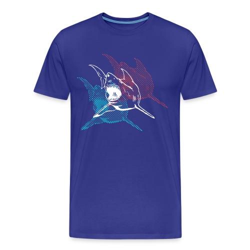 Designer 3d Halftone Great White Shark - Men's Premium T-Shirt