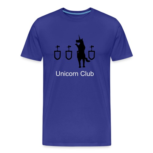 Unicorn Club Unicorn at Urinal - Men's Premium T-Shirt
