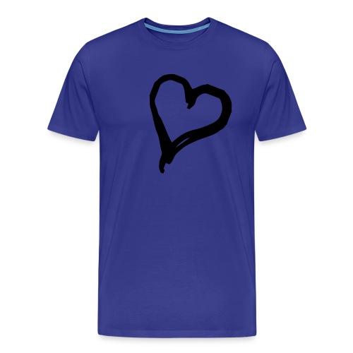 Mens Heart Tee - Men's Premium T-Shirt
