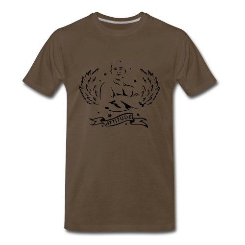 Attitude Chocolate / Black Heavyweight - Men's Premium T-Shirt