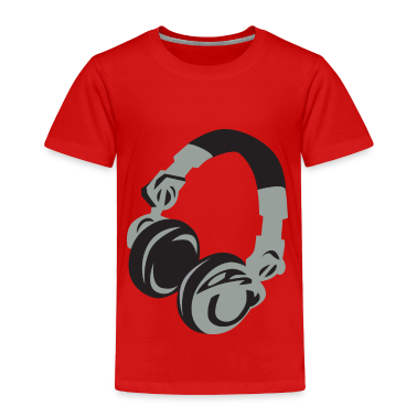 Red Headphones Toddler Shirts