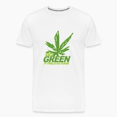 White THC Weed Go Green T-Shirts