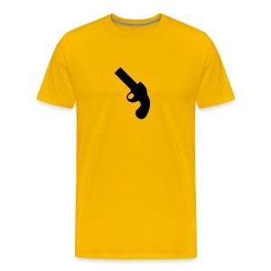 Mustard with Revolver - Men's Premium T-Shirt