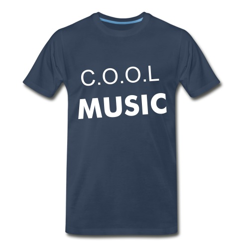 COOL basic tee-navy/white - Men's Premium T-Shirt