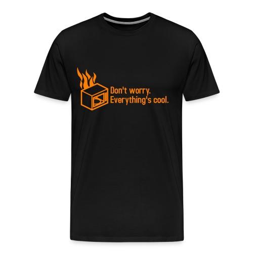 Microwave on Fire III - Men's Premium T-Shirt