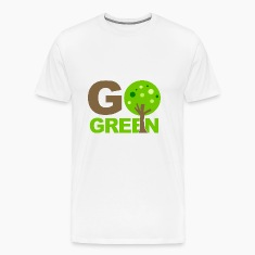 White Go Green Tree  T-Shirts