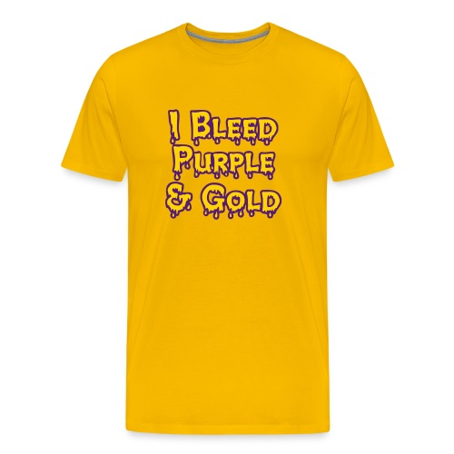 I Bleed Purple and Gold LSU - Men's Premium T-Shirt