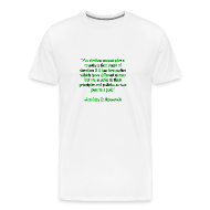 T-Shirts ~ Men's Premium T-Shirt ~ An election cannot give a country a sense of direction if it has two parties which have different names but are as alike in their principles and policies as two peas in a pod. -Franklin D Roosevelt