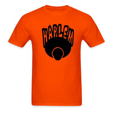 Orange Harlem, Afro, Face--1 Color T-Shirts