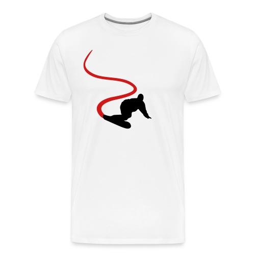 Red/Black snowboard - Men's Premium T-Shirt
