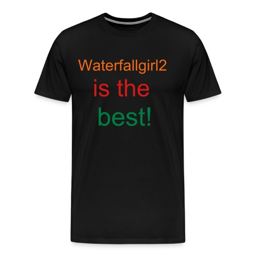 Black- Waterfallgirl2 T-shirt 3 - Men's Premium T-Shirt