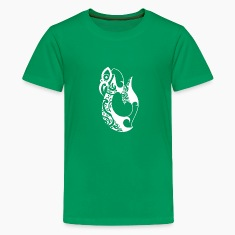 Kelly green Manaia Kids' Shirts