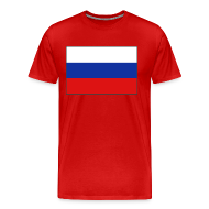 T-Shirts ~ Men's Premium T-Shirt ~ Russian flag Tee