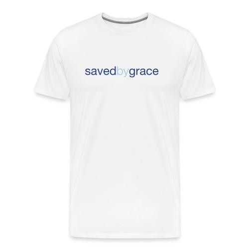 Saved By Grace - White - Men's Premium T-Shirt