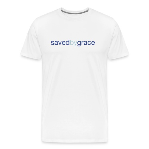 Saved By Grace - White - Men's Premium T-Shirt