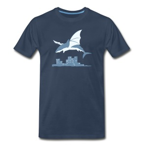 Flying shark (M) - Men's Premium T-Shirt
