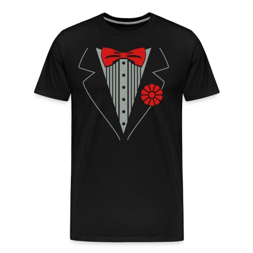 mens fake tux ! - Men's Premium T-Shirt