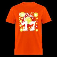T-Shirts ~ Men's T-Shirt ~ Birthday Shirt 17 Years - Happy Birthday Design - Special present - Geburtstag Shirt