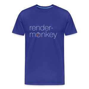 rendermonkey - original V-Ray logo - Men's Premium T-Shirt