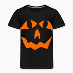 Black Pumpkin face Toddler Shirts