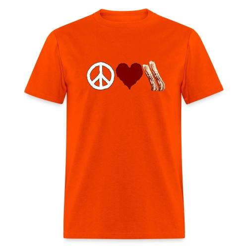 Peace Love Bacon - Men's T-Shirt