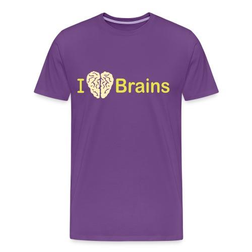 Brains Mens - Men's Premium T-Shirt