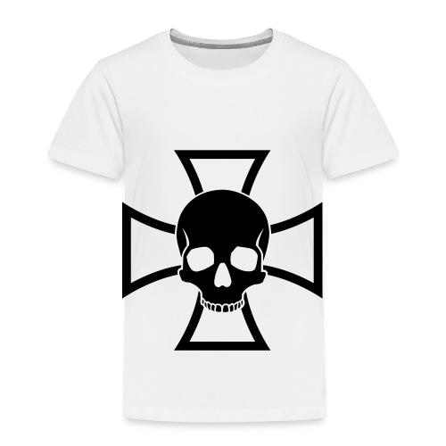 Skull & Iron Cross - White - Toddler Premium T-Shirt