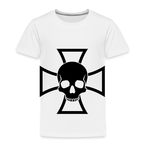 Skull & Iron Cross - White - Toddler Premium T-Shirt