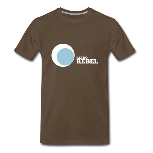 retro rebel shirt white (real retro colors) - Men's Premium T-Shirt