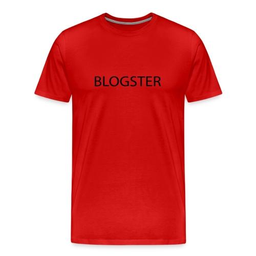 Popular Red Blogster Shirt Back in Stock! - Men's Premium T-Shirt