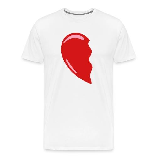 Heart-Left - Colorable - SALE - Men's Premium T-Shirt