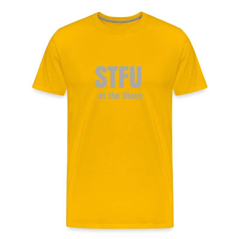 STFU @ The Disco w/Silver Sparkles Men's T - Men's Premium T-Shirt