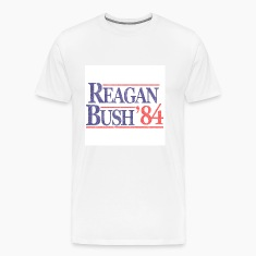 White Vintage Reagan Bush 1984 T-Shirts