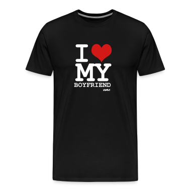 Black i love my boyfriend by wam T-Shirts