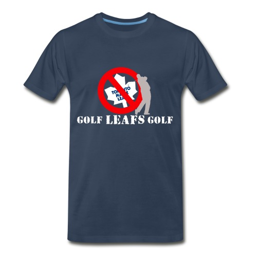 Dark Colored Golf Leafs Golf - Men's Premium T-Shirt